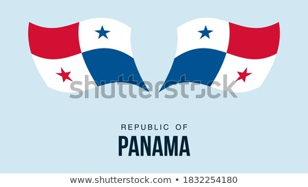 карта флаг кнопки республика Панама вектора Сток-фото © Istanbul2009