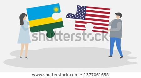 USA and Rwanda Flags in puzzle Stock photo © Istanbul2009