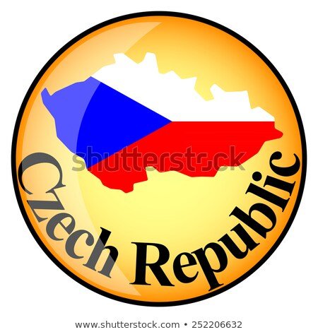 Foto stock: Laranja · botão · imagem · mapas · República · Checa · forma