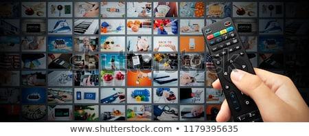 Hd televisie home scherm moderne show Stockfoto © ozaiachin
