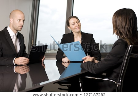 Recruiters checking the candidate during job interview Stock photo © wavebreak_media