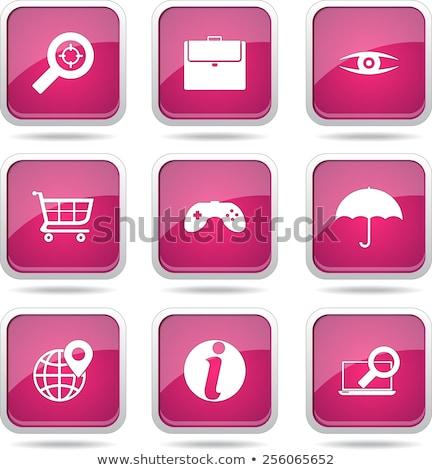 SEO Internet Sign Square Vector Pink Icon Design Set 10 Stock photo © rizwanali3d