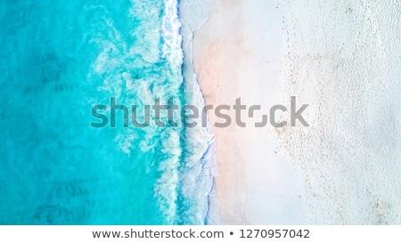 strand · hoefijzer · hemel · water · wolken · oceaan - stockfoto © master1305