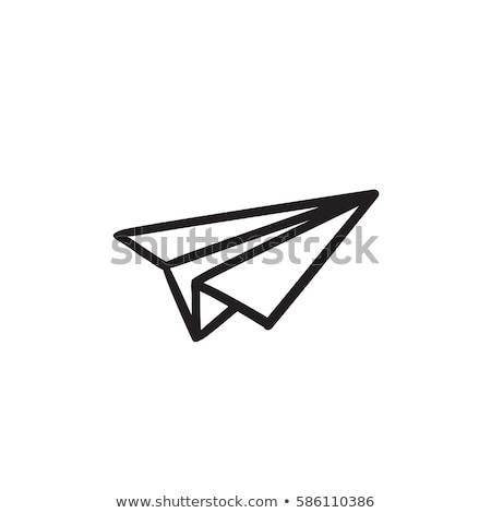 papier · avion · ciel · vecteur · format · fond - photo stock © blaskorizov