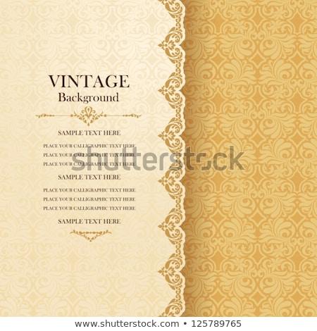 Сток-фото: Vintage Invitation Card With Ornate Elegant Abstract Floral Desi