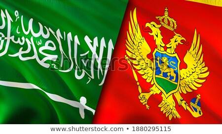 Arabia Saudita Muntenegru steaguri puzzle izolat alb Imagine de stoc © Istanbul2009