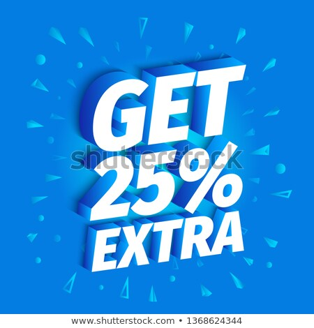 Get 25 Percent Blue Vector Icon Design Stock photo © rizwanali3d