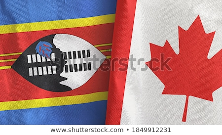 Canada and Swaziland Flags Stock photo © Istanbul2009