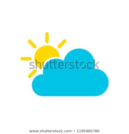 晴れた · 雲 · 黄色 · ベクトル · アイコン · デザイン - ストックフォト © rizwanali3d