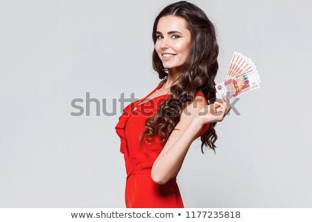 nő · kéz · arc · boldog · igazgató · siker - stock fotó © Paha_L