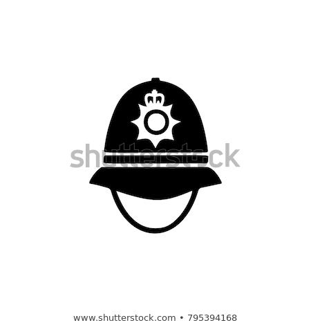 Negro policía casco sombrero soldado ejército Foto stock © shutswis