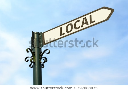 local concept isolated letterpress type stock photo © enterlinedesign