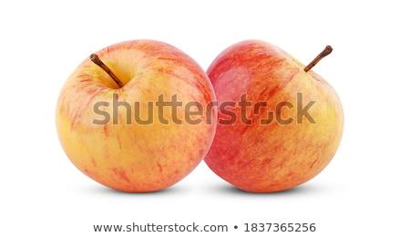 3 ·  · 赤 · 黄色 · リンゴ · 孤立した · 白 - ストックフォト © artush
