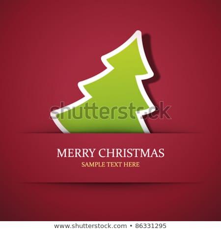 Christmas template with label. EPS 10 Stock photo © beholdereye