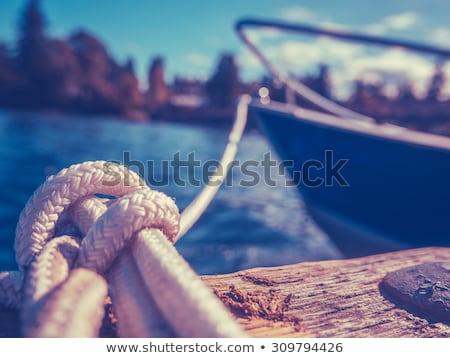 boat moored at the pier Stock photo © OleksandrO
