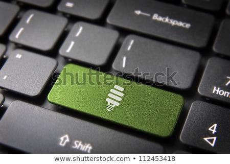 ノートパソコンのキーボード 電球 シンボル コンピュータ インターネット ノートパソコン ストックフォト © michaklootwijk