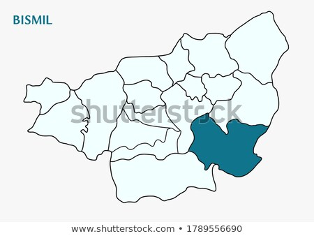 Map of Diyarbakir - Bismil is pulled out Stock photo © Istanbul2009