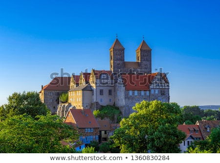 castle and church in quedlinburg germany stock photo © meinzahn
