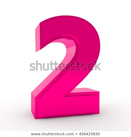 Numbers in pink color Stock photo © bluering