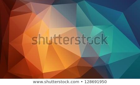 Mozaiek abstract oranje achtergrond web kleur Stockfoto © MarySan