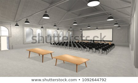 conference of halls 3d image stock photo © iserg