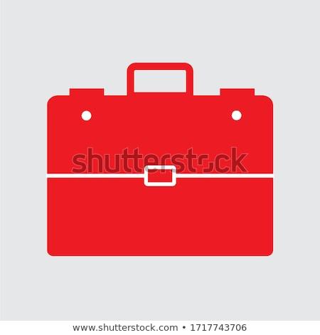 Red leather businessman briefcase vector illustration. Stock photo © tuulijumala
