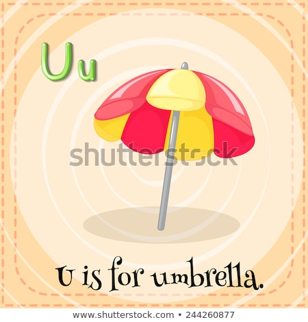 Flashcard letter U is for umbrella Stock photo © bluering