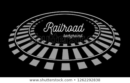 Vetor isolado branco trem metrô Foto stock © m_pavlov
