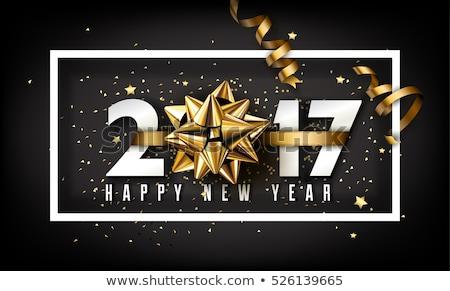 Nouvelle année feux d'artifice confettis ciel heureux fond Photo stock © -Baks-