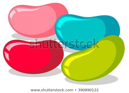 Jelly beans in four colors Stock photo © bluering
