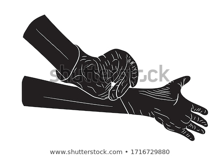 Hands in medical gloves  Stock photo © OleksandrO