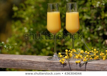 Foto stock: Two Glasses Of Mimosa Cocktail