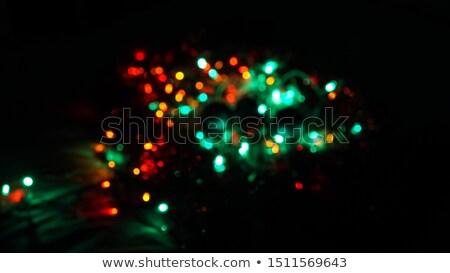 grinalda · luzes · vermelho · verde · azul - foto stock © arsgera