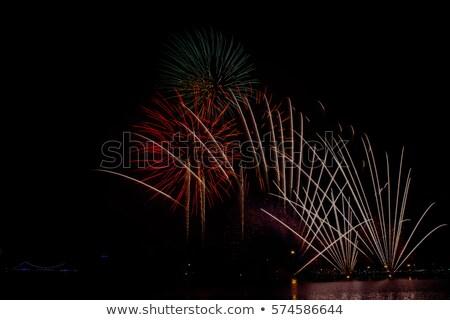 зеленый черный с Новым годом ночь праздник Сток-фото © vlad_star