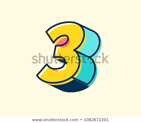 3d abstract style logo with number 3 Stock photo © SArts