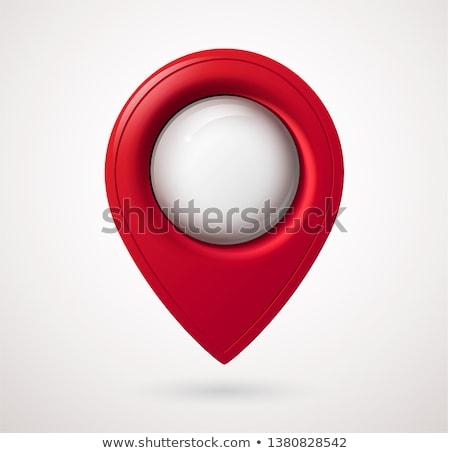 vermelho · bolha · mapa · distintivo · abstrato · gps - foto stock © molaruso
