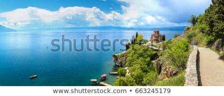ohrid skyline macedonia stock photo © joyr