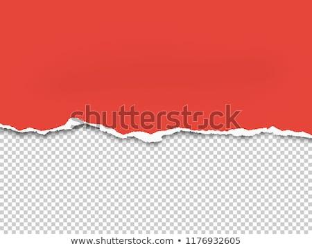 Kırmızı yırtık kağıt şablon dizayn siyah kart Stok fotoğraf © fresh_5265954