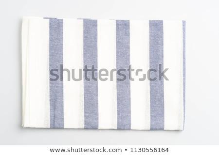 Strisce piatto asciugamano blu bianco Foto d'archivio © Digifoodstock