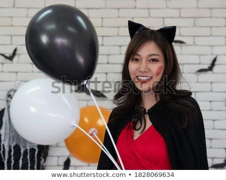 Bella donna party Hat muro di mattoni ritratto donna Foto d'archivio © wavebreak_media