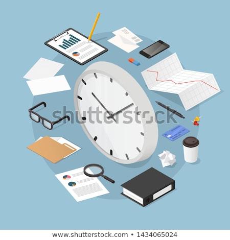 Procede optimalisatie horloge gezicht 3d illustration Stockfoto © tashatuvango