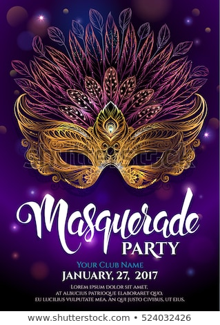 Mardi Gras Party Mask Poster Stock photo © Olena