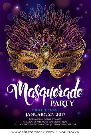 mardi gras party mask poster stock photo © olena
