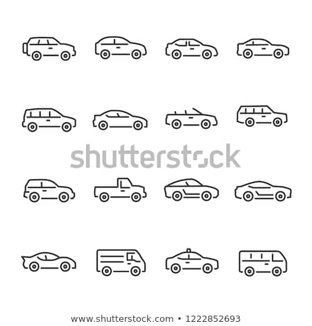 Sedan carro linha ícone vetor isolado Foto stock © RAStudio