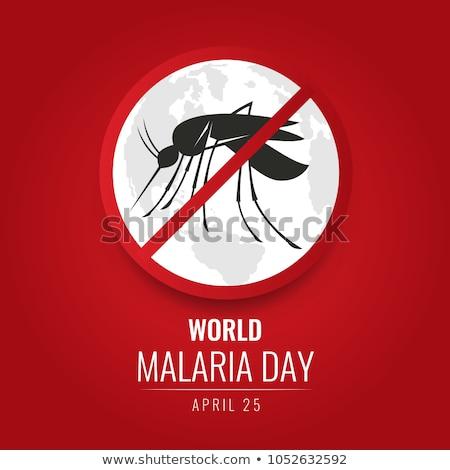Silhueta ícone dia malária forma mosquito Foto stock © Olena