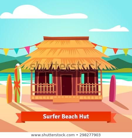 Schaduw strand huis vakantie recreatie niemand Stockfoto © IS2