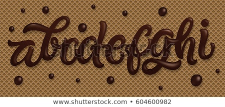 Letter B Chocolate font. sweetness alphabet. Liquid lettering. S Stock photo © MaryValery