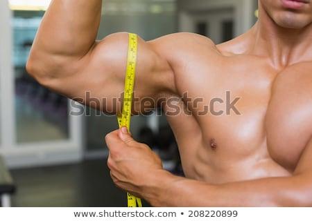ölçüm örnek adam kaslar uygunluk Stok fotoğraf © lenm