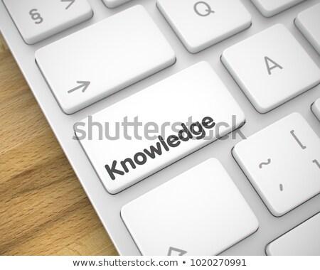 知識 碑文 白 キーボード キーパッド 3D ストックフォト © tashatuvango