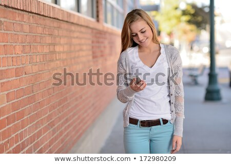 verbod · lopen · smartphone · weg · signaal · illustratie - stockfoto © adrenalina